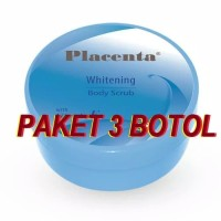 OBAT LULUR PEMUTIH KULIT PLACENTA WHITENING 200GR ORIGINAL 3 BOTOL