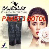 OBAT MASKER PEMUTIH WAJAH BLACK WALET FACIAL FOAM 100GR ORIGINAL 3BTL
