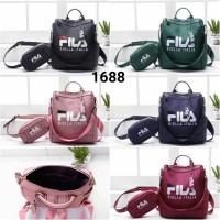 Harga tas bag backpack wanita ransel fila set 2 in 1 | Pembandingharga.com
