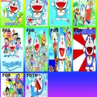 stiker kulkas 1 pintu Doraemon
