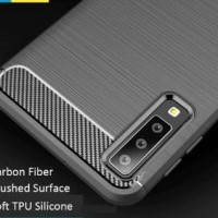 Case Samsung A9 2018 Carbon TPU Softshell cover case ipaky Carbon