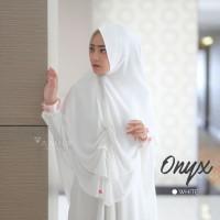AMILY KHIMAR ONYX WHITE NEW ORIGINAL KHIMAR SYARI FORMAL PESTA