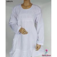 Baju Hamil dan Menyusui Kerja Putih Jumbo AHS131