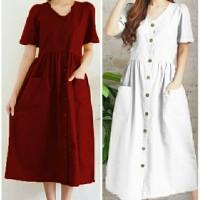 nichoel button dress