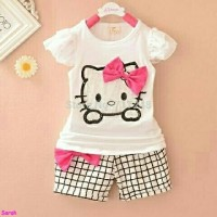 st keysha kid/Baju anak karakter/Stelan anak hello kitty/Kitty kids/FE