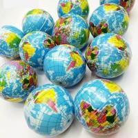 Mainan Bola Dunia Pantul Squishy bentuk globe Bumi Peta Dunia
