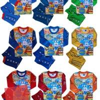 Baju Tidur Setelan Panjang Piyama Atasan Kaos Robocar Poli RPPH012618