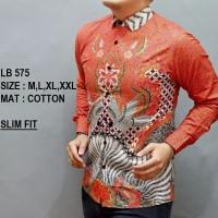 Harga baju kemeja batik slimfit lengan panjang casual formal fashion d | Pembandingharga.com