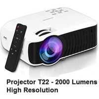 Projector / Proyektor T22 Lumens 2000 With Native Resolution 1280*720