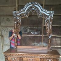 Meja Rias Ukir Gebyok , Uk. 120cm ,, Harga Murah Berkualitas