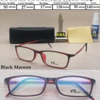 Diskon kacamata minus HM EYEWEAR kacamata kotak kacamata minus