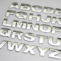 Emblem Mobil Huruf angka spesial karakter logam Metal Asli - HMB092