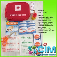First Aid Kit Bag Warna Merah ( Tas P3K )