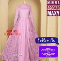 Maxi Nurlela Velvet Roberto/Gaun Pesta Muslimah/Gamis Velvet Brukat