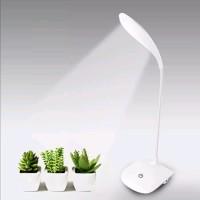 LAMPU MEJA BELAJAR LED / LAMPU BACA WHITE PORTABLE ORIGINAL