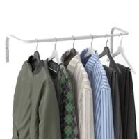 MULIG Batang Rel Rak Gantungan Baju/Handuk dpt Dipanjangkan, 60-90 cm