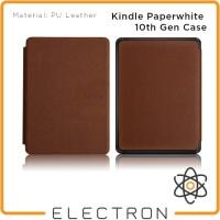 Kindle Paperwhite 10th Gen Case Coklat Brown PU Leather 10 Generation