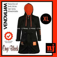 XL - Original Hijacket Vendulum Onyx Black Jaket Muslimah Hijabers