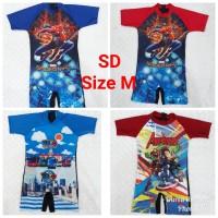 Baju Renang Diving Anak Cowok SD Karakter Spiderman & Cars