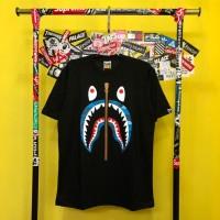 81379a674 Baju Kaos Tshirt Skate A Bathing Ape Bape Shark Camo Blue Premium