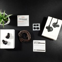 Knowledge Zenith KZ ZST Black Carbon Hybrid Dual Driver In Ear Monitor