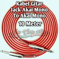 Kabel Gitar 10 Meter Jack Akai Mono To Akai Mono