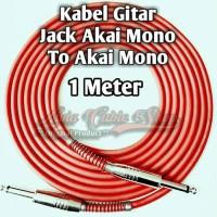 Kabel Gitar 1 Meter Jack Akai Mono To Akai Mono