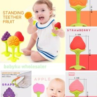 teether baby kids fruit silicone / gigitan bayi tumbuh gigi motif buah