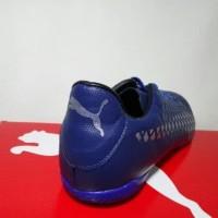 New Produk Grade Ori - Sepatu Futsal Puma Future 18.4 Navy Silver d490c8f8be
