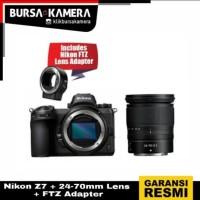 Nikon Z7 + 24-70mm Lens + FTZ Adapter