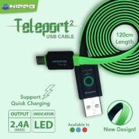 Baru Kabel Data Hippo Teleport 2 Lightning 120 cm Original f Terbaik