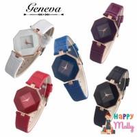 Geneva Fashion Strap Leather Jam Tangan Wanita ( Group ) - Diamond