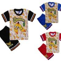 Setelan Baju anak Laki Gambar Banana