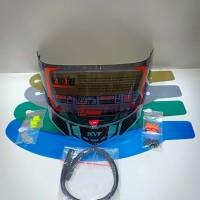 paket flat visor + tear off + post + talang air + spoiler pnp kyt r10
