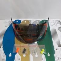 paket flat visor + tear off +post pnp kyt r10, kyt rc7, iridium silver
