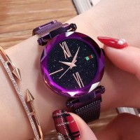 jam tangan magnet tali pasir g u c c i / jtr 1256 ungu