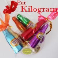 COKLAT CANTIK Bentuk BOTOL Pakai PITA ( CURAH / KILOAN )