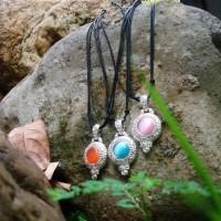 Kalung / aksesories / necklace / kalung etnik / kalung batu permata
