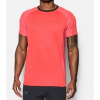 Under Armour Original UA HexDelta Merah Oranye Kaos Gym Fitness Lari 5c3840c9fe