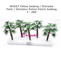 MAKET Palem Sadeng /Diorama Palm /Miniatur Pohon Palem Sadeng 1 : 200