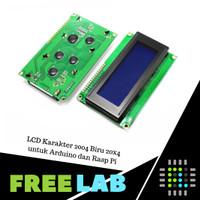 LCD Karakter 2004 Biru 20x4 untuk Arduino dan Rasp Pi LCD Blue