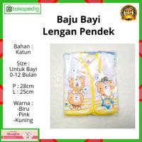 1 Lusin / 12 pcs Baju Bayi Lengan Pendek baru lahir newborn murah