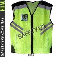 Rompi Jaring Safety Kombinasi K3 Logo Saya Pilih Selamat Terbaru Hijau