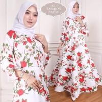 Maxi Intan Flower (25) Baju Muslim Wanita Gamis Model Kekinian Terbaru