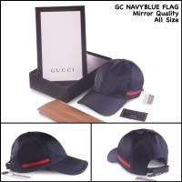 topi gucci navyblue flag topi kw super topi fashion korea topi terbaru