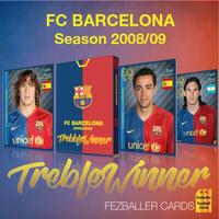 Kartu Fezballer cards FC BARCELONA - TREBBLE WINNER season 2008-2009