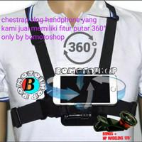Chestrap motovlog dan vlog untuk handphone mounting dada
