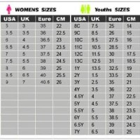 Reebok Shoe Size Chart Compared To Nike 50 Off Newriversidehotel Com