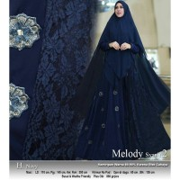 Baju Busana Muslim Wanita Gamis Syari Pesta Melody Ceruty Terbaru