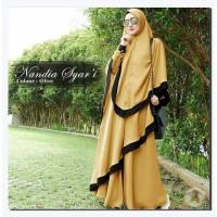 Baju Busana Muslim Wanita Gamis Syari Pesta Nandia Terbaru